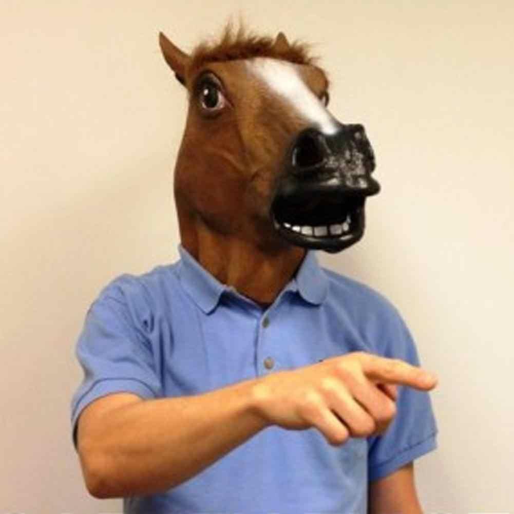 At baş maskesi Lateks Hayvan Maskesi Cosplay Sahne Masquerade Partisi Cadılar Bayramı Paskalya Parti Komik Şapka Dekoratif Öğeler