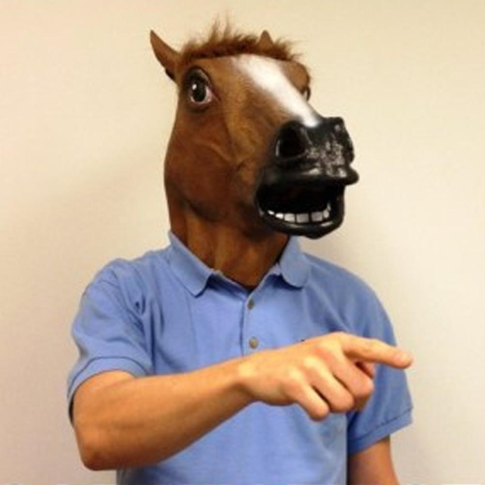 Horse Head Mask Latex Animal Mask Cosplay Props For Masquerade Party Halloween Easter Party Funny Headgear Decorative Items