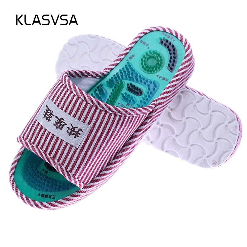 KLASVSA Fußreflexzonenmassage Akupunkturpunkt Pantoffel Massage Fördern Die Durchblutung Entspannung Gesundheit Fußpflege Schuhe Schmerzen Relief