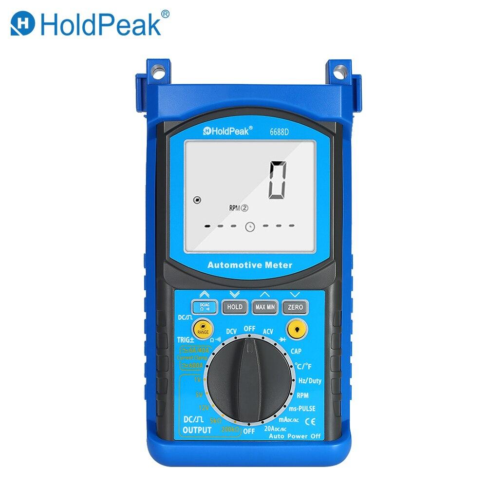 Analyseur de moteur automobile numérique LCD multimètre tension compteur de courant capacité résistance Diode testeur voltmètre ampèremètre
