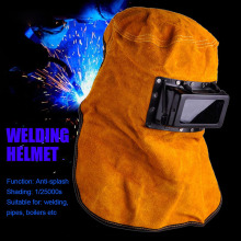 Solar Auto Darkening Filter Lens Welder Leather Hood Welding Helmet Mask Supplies WXV Sale
