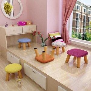Image 3 - קטן הוקי אופנה מקומי בד אמנות קטן ספה Hocker שולחן תה קצר יצירתי קטן ספסל Hocker לילדים