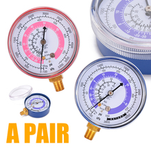 1 Pair Air Conditioner Pressure Gauge  R134A R22 R410A Air Conditioner Refrigerant High Low Pressure Gauge Measuring Tool цена и фото