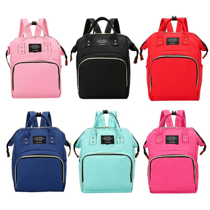 2019 NEW Diaper Bag Mummy Maternity Nappy Bag Women Backpack Nappy Large Capacity Baby Waterproof Travel Shoulder Bag Baby Care
