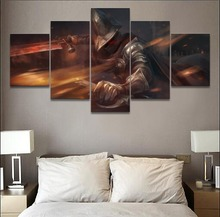 5 Panel Canvas Print Dark Souls III Game Warrior Poster Painting For Living Room Picture Wall Art Decor Modern Artwork
