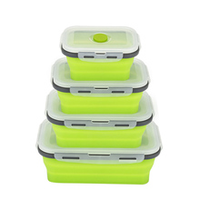Lunch Box Silicone Bowl Folding Foldable Portable Food Storage Container Eco-Friendly WXV Sale