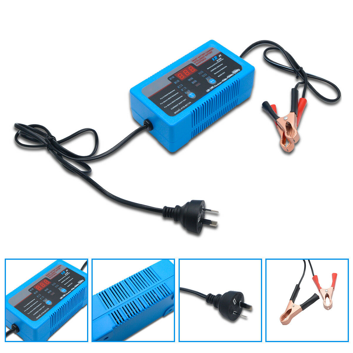 Car font b Battery b font Charger 6V 12V Heavy Duty 2A 8A 12A with Trickle