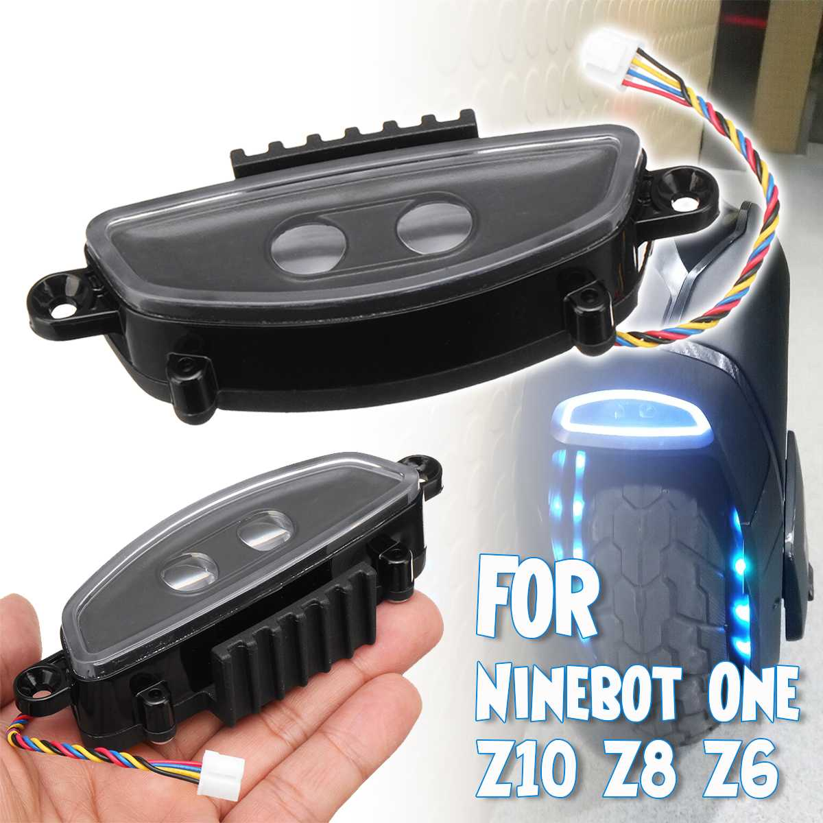 electric unicycle self balance scooter headlight Replacements for Ninebot Z10 front light for Ninebot One Z10 Z8 Z6 spare parts