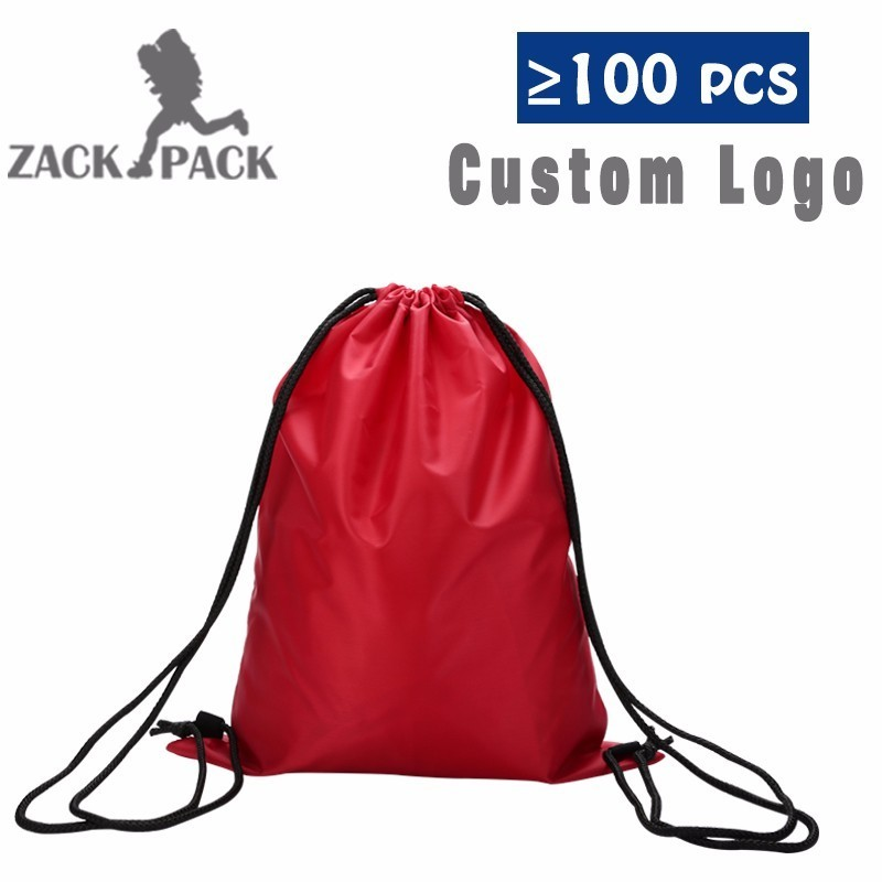 Drawstring Bag Waterproof Backpack Wholesale Sports Pocket School Students Cinch Sack Bag Custom Pri