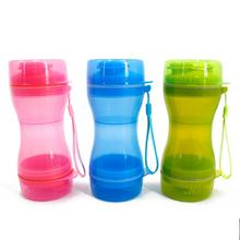 Dog Water Bottle 2 In 1 Portable Pets Dr