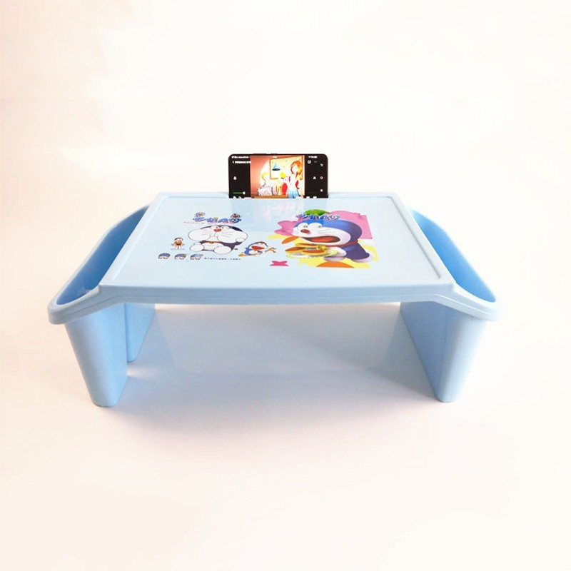 Thickening Plastic Cartoon Children Small Study Table With Storage Lap Laptop Desk For Kid Adult Home Bedroom Furniture PortableThickening Plastic Cartoon Children Small Study Table With Storage Lap Laptop Desk For Kid Adult Home Bedroom Furniture Portable