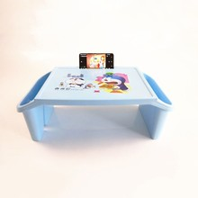 Thickening Plastic Cartoon Children Small Study Table With Storage Lap Laptop Desk For Kid Adult Home Bedroom Furniture Portable