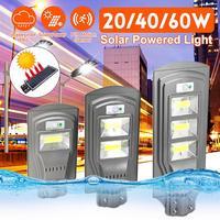 Smuxi LED Solar Lamp Wall Street Light 20W/40W/60W Super Bright Motion Sensor Waterproof Security Lamp for Garden Yard