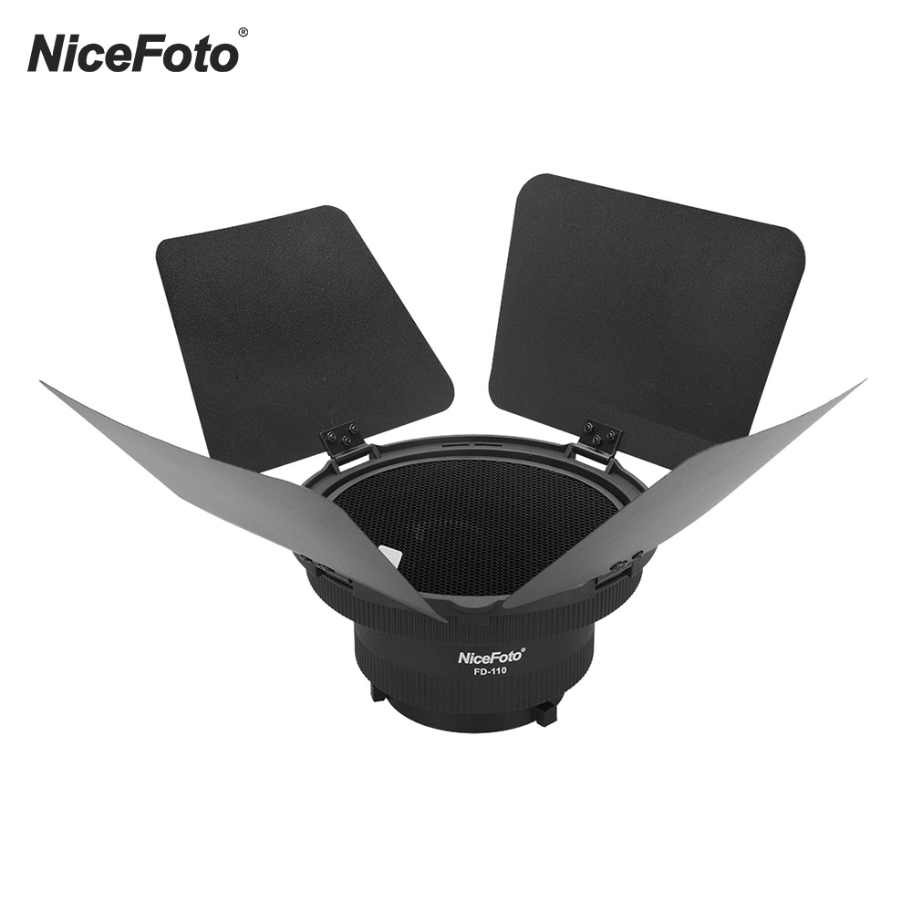 NiceFoto FD 110 Fresnel Mount Light Focusing Adapter with Lights for LED Video Light for Aputure Light Storm COB 120T 120D-in Photo Studio Accessories from Consumer Electronics    1