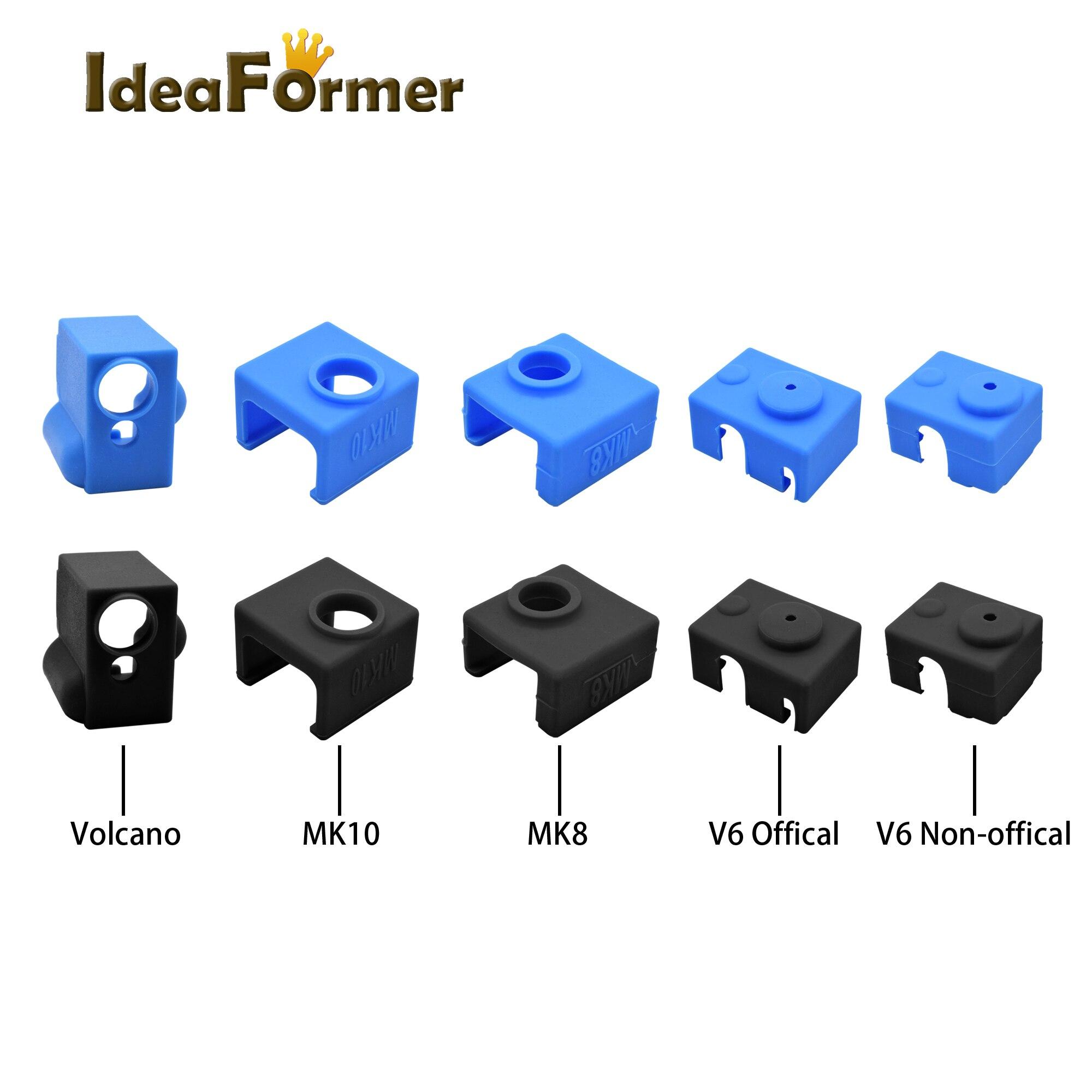 3D-принтер V6/MK7 MK8 MK9/MK10/Volnaco, силиконовый нагревательный блок, защитный силиконовый изоляционный чехол для теплового блока горячего конца.