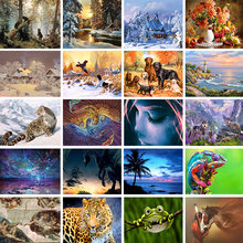 20 Pattern Home Character Landscape Animal 5D Diamond Painting Cross Ctitch Kit Mosaic Diamond full Embroidery Painting(China)
