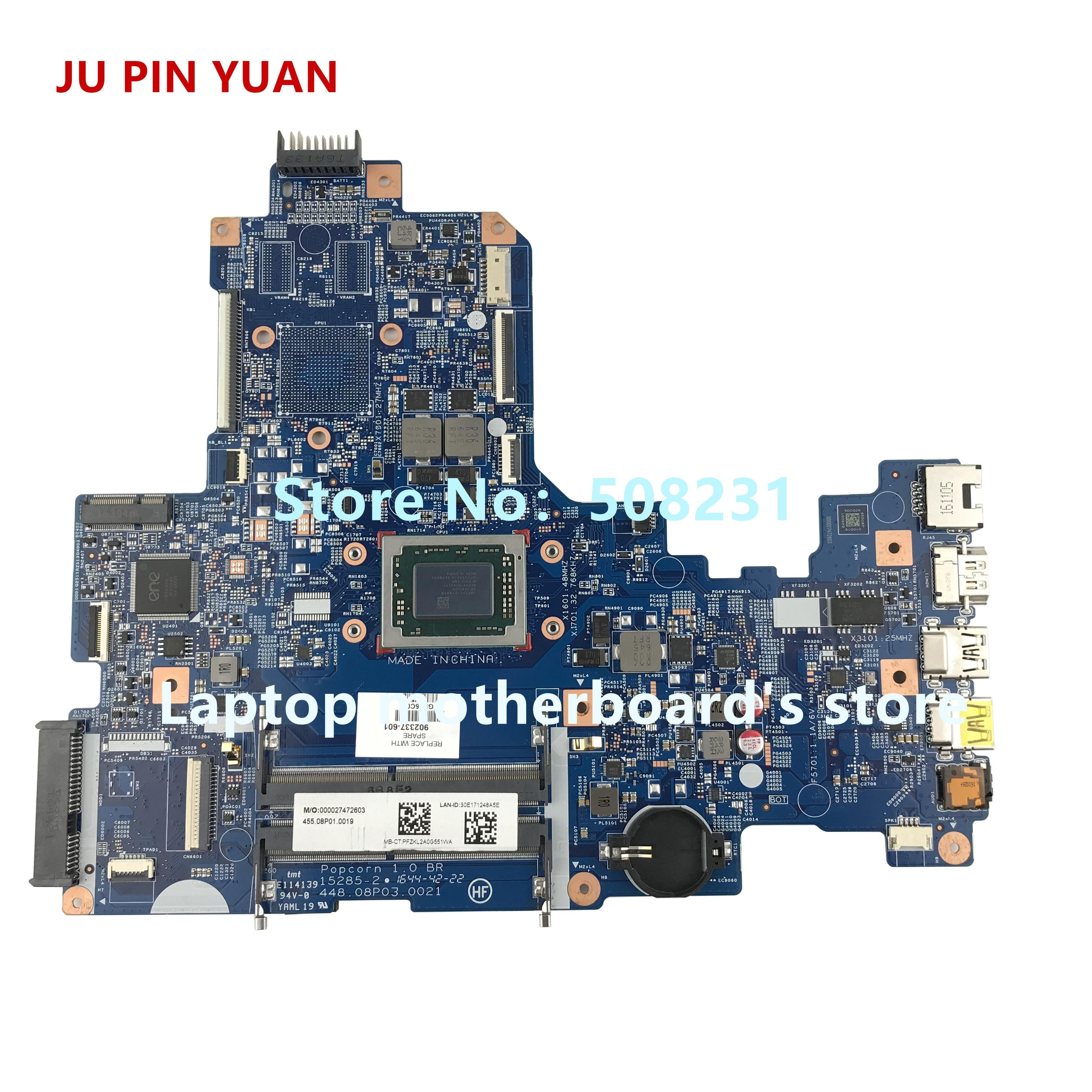 JU PIN YUAN 902337-601 902337-501 902337-001 448.08P03.0021 for HP NOTEBOOK 17-Y 17Z-Y laptop motherboard A12-9700P fully TestedJU PIN YUAN 902337-601 902337-501 902337-001 448.08P03.0021 for HP NOTEBOOK 17-Y 17Z-Y laptop motherboard A12-9700P fully Tested