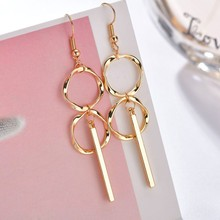 Temperament Geometric Design Women Drop Earrings Elegant Minimalism High Quality Party Drop Earrings Women Great Earrings