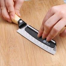 Afilador de cuchillos con guía angular para cocina afilador de cuchillos de precisión rápida, utensilios de cocina, tira de cerámica duradera