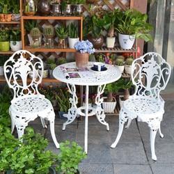 3-sztuka biały Bistro zestaw tarasowy stół i 2 roku/lat mogą spać zestaw mebli z krzesłami meble ogrodowe do siedzenia na zewnątrz