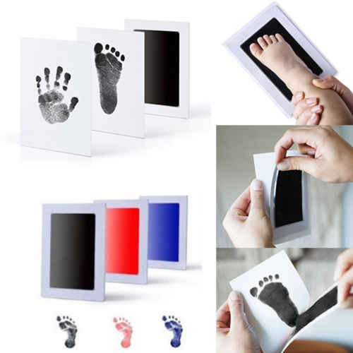 New Baby Boy Girl Kids Paw Print Souvenir Gifts Hand Footprint Makers Pad Foot Photo Frame Touch Ink Pad Baby Items
