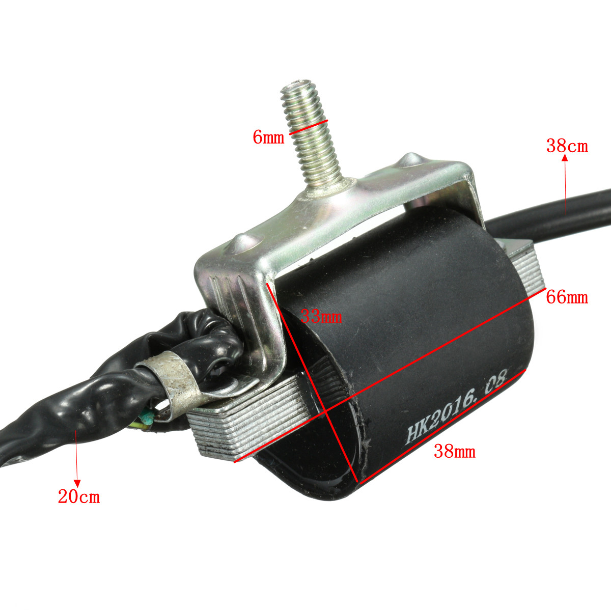 Black Ignition Coil CDI Unit Rectifier Regulator Fits for 110cc 125cc 140cc Pit Dirt Bike Trail Bike Dirt Bike Quad ATV