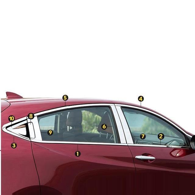 Chromium Rear Bumper Panels Foot Pedal Exterior Fashion Sticker Strip Accessory Car Styling Trim Mouldings 17 FOR Honda XR-V