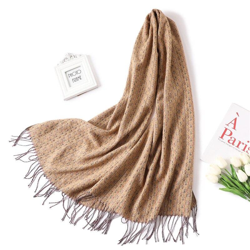2019 designer brand women scarf spring winter pashmina bandana for lady cashmere scarves thick neck head warm knit echarpe