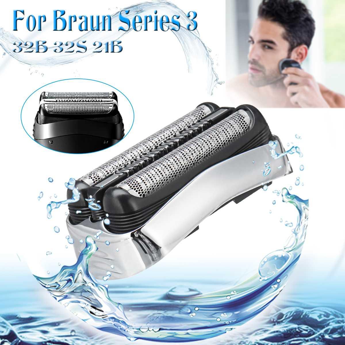 Tête de lame de rechange pour rasoir Braun 32B 32 S 21B 310 S 30000 S 350CC 370CC série 3 Cruzer6 tête de rasoir mâle argent