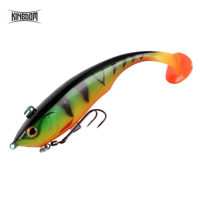 Kingdom 2019 New Soft Baits Swim Shad Double Hook Fishing Lures 170mm 55g Saltwater Swimbait Fishing Good Action Soft Lure