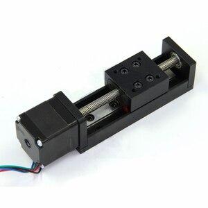 Image 2 - CNC MIni Linear Guide Rail Slide Actuator T6 Lead Screw Motion Stepper Motor Stroke 50 200MM