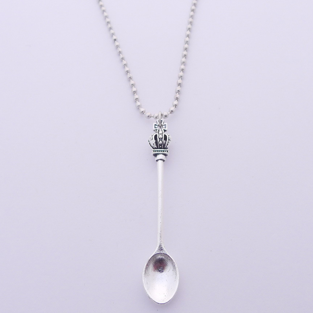 Tea Spoon Theory Silver Plated Necklace Disability Fibromyalgia Spoonie Ket