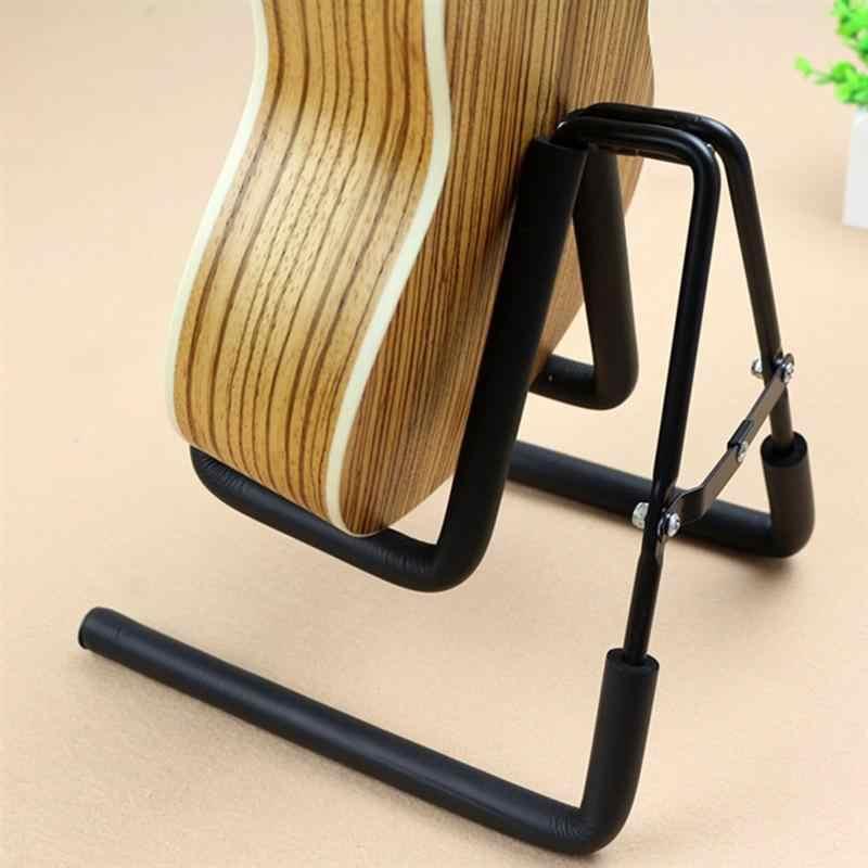 1 قطعة للطي المحمولة آلة موسيقية رفوف الكهربائية حامل جيتار ترايبود القيثارة حامل ل آلة موسيقية متجر عرض