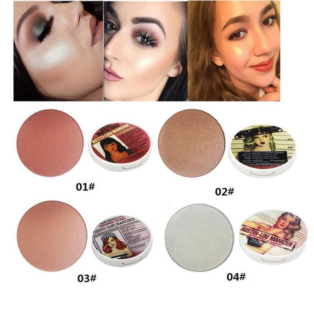 071aa4f7fd25 US $2.98 35% OFF 4 Colors Highlighter Contour Pressed Powder Whitening  Shimmer Blush Bronzer Highlighter Palette Face Brightener Makeup Glow Kit  on ...