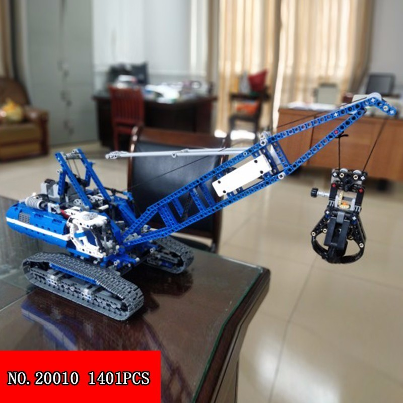 Здесь можно купить  Lepin 20010 Technology Series Mechanics Track Type Lifting Crane Assembling Alpinia Plastic Building Block Children Toys 1401pcs  Игрушки и Хобби