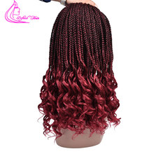 Refined 22Strands Crochet Box Braids Curly End 18Inch crotchet hair Twist(China)