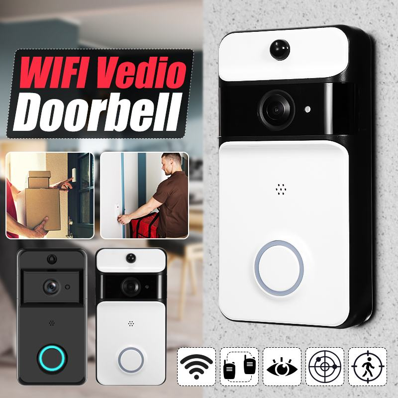 Smart Doorbell With Camera IP Video Intercom WiFi Door Bell For Home Security Apartments IR Alarm Wireless Doorbell Camera 720PSmart Doorbell With Camera IP Video Intercom WiFi Door Bell For Home Security Apartments IR Alarm Wireless Doorbell Camera 720P