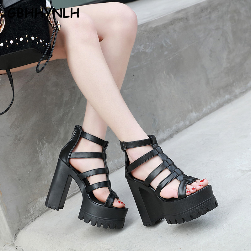GBHHYNLH Women Sandals Gladiator Party Ankle Strap heels