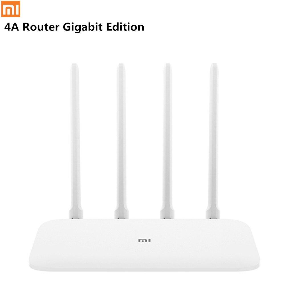 Xiao mi mi 4A Routeur Gigabit Édition 2.4 GHz + 5 GHz WiFi 16 MO ROM + 128 MO DDR3 gain élevé 4 Antenne À Distance APP Control Support IPv6