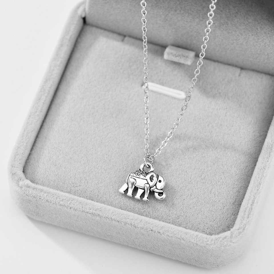 New arrival Cute Elephant Shape Fashion Style Women Necklace Elegant Wonderful Anniversary Necklace For Women Jewelry Gift