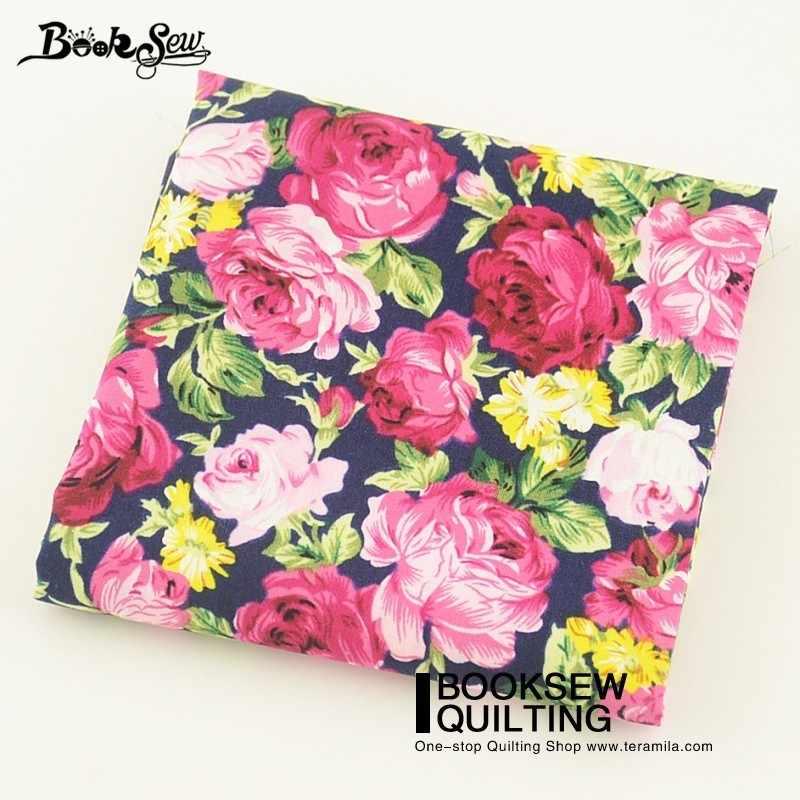 Booksew Katoen Poplin Stof Thuis Textiel Quilten Thuis Decoratie Naaien Nieuwe Collectie Gedrukt Rose Ambachten Jurk Kussens Shirt