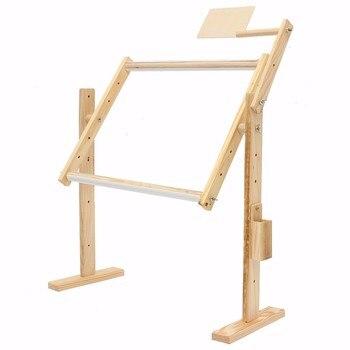 Support de plancher de broderie de point de croix de table de cadres en bois solides d'ajustement pour des outils faits main de couture de couture