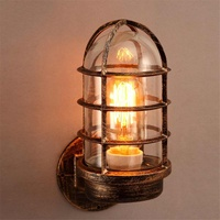 Industrial Unique Wall Light Wall Sconces Cage Guard Sconce Loft Light Fixture Modern Indoor Lighting Wall Lamps Iron Copper