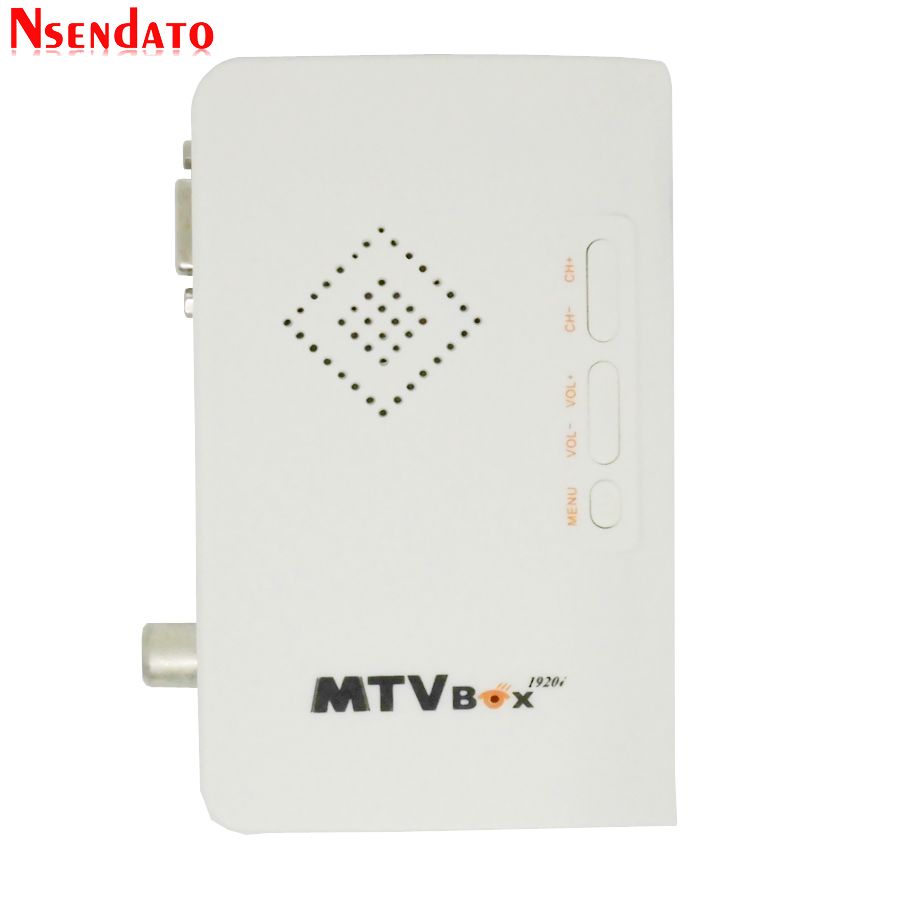 External LCD CRT TV Tuner MTV Box AV To VGA TV Receiver Tuner 1080P TV Set Top Box With Remote Control For HDTV Computer Monitor