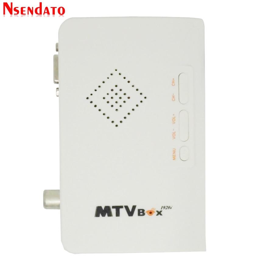 HI TV Box Satellite Receiver VGA//AV Tuner For LCD//CRT Monitors PC Projector