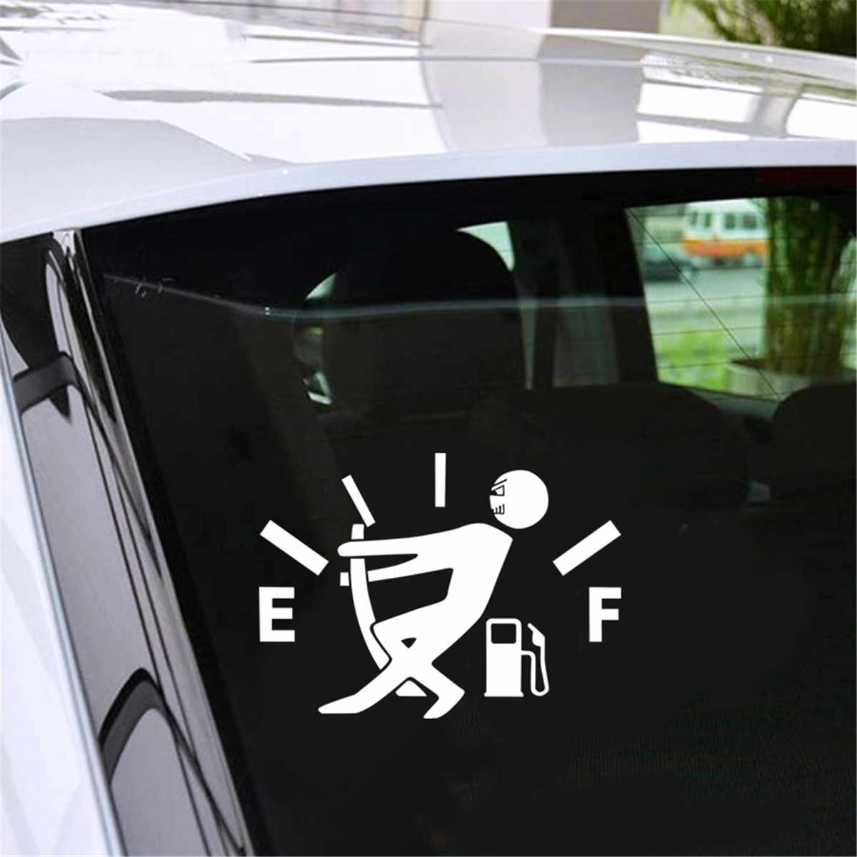 Funny Gas Consumption Sticker Car Bumper Window Door Car Aoto Deco Hide D