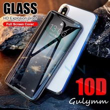 Curved Edge 10D Hard Glass on the for iPhone X XR XS Max Tempered Glass on for iPhone 7 8 6S Screen Protector Full Cover Glass цены