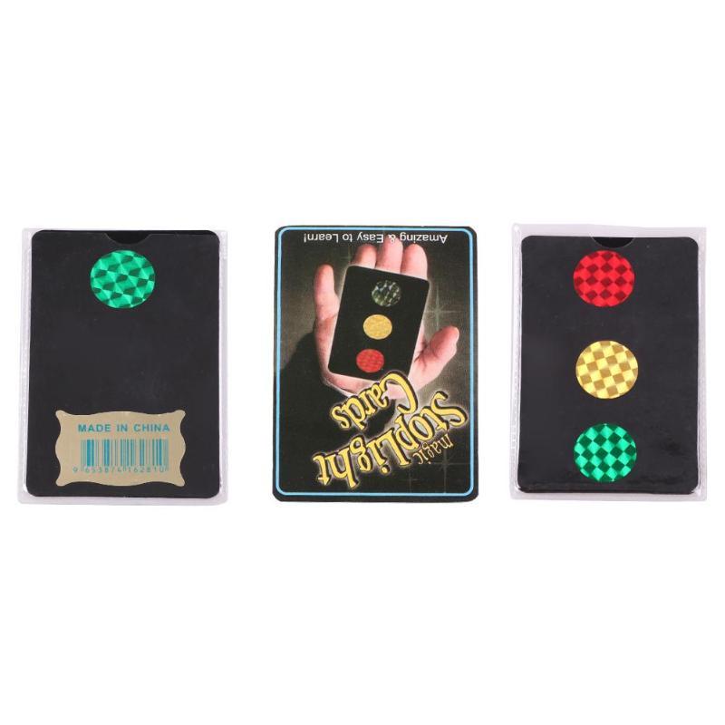 Magique arrêt lumière carte magique feu de signalisation jouets scène astuces Performance accessoires