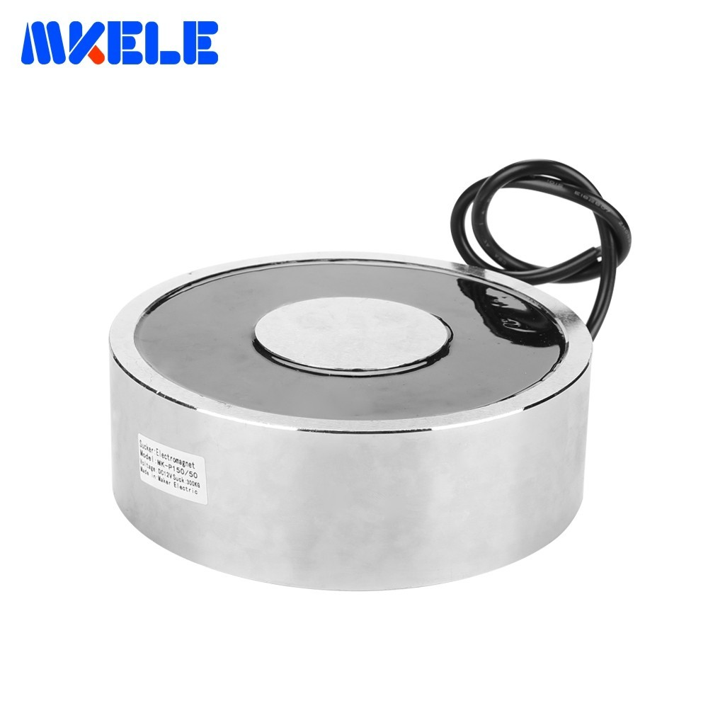 Holding Electric Magnets Lifting 300KG/3000N Mini Electromagnet Sucker DC12V 24V Imanes De Neodinio Aimant MKELE-P150/50Holding Electric Magnets Lifting 300KG/3000N Mini Electromagnet Sucker DC12V 24V Imanes De Neodinio Aimant MKELE-P150/50
