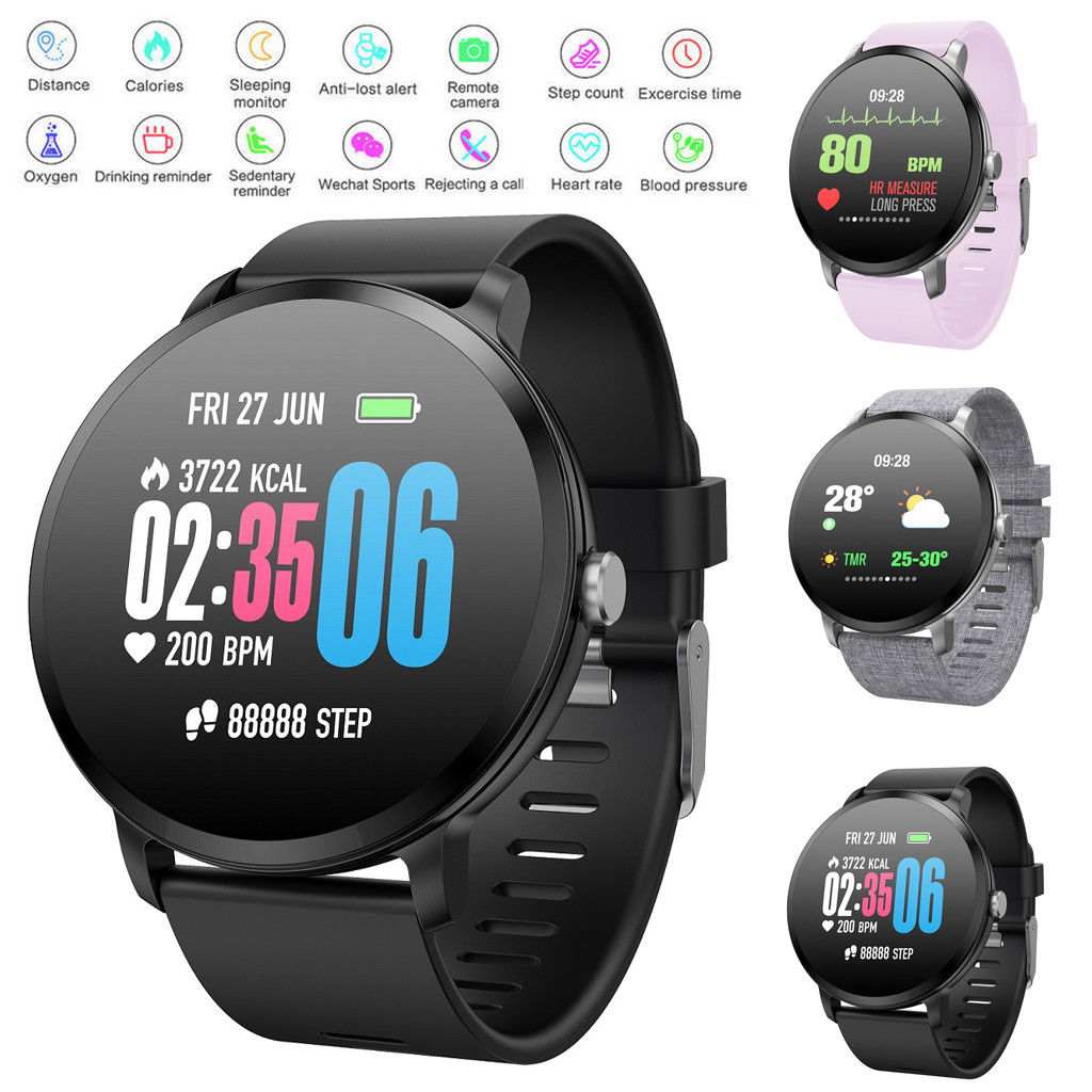 2019 New Smart Watch Men Women Blood Pressure Heart Rate Monitor Fitness Tracker Smartwatch Sport Watch For iPhone IOS Android